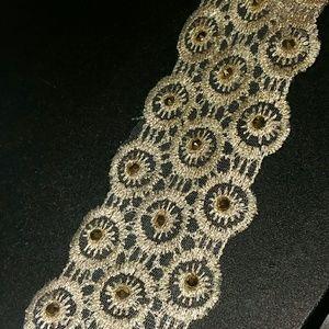 Gold Swarovski headband